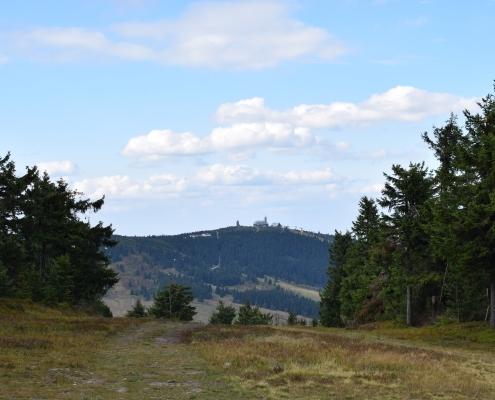 Výhled na Klínovec