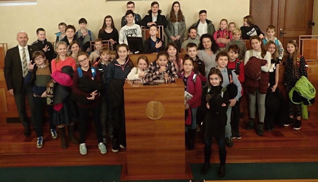 Studenti z mělnického gymnázia na návštěvě Senátu PČR, 10. února 2020. (Jan Šesták / gjp-me.cz)