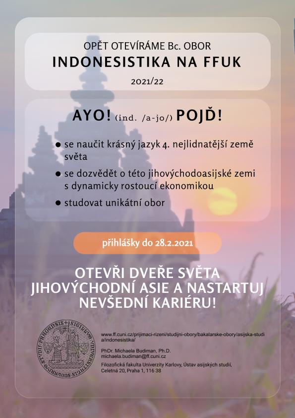 Indonesistika, obor studia na FF UK