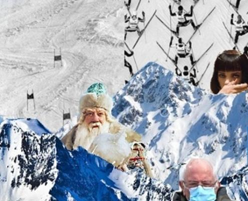 Alegorie zimy – výtvarná práce