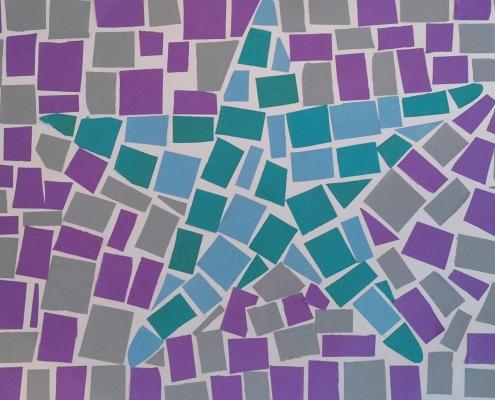 Zimní mozaika – výtvarná práce