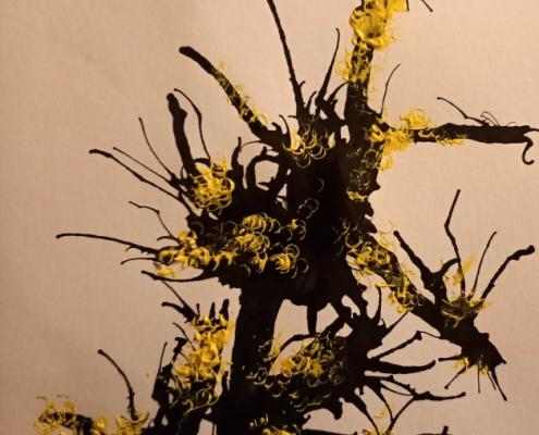 Zlatý déšť - výtvarná práce